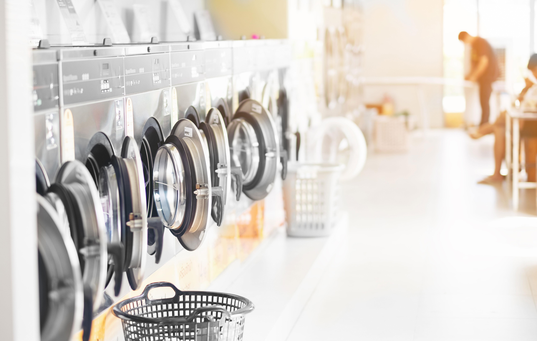 Desinfección en lavanderías autoservicio