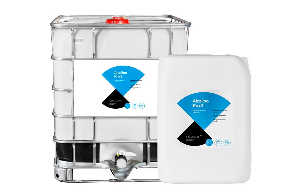 Alcalino Pro 2, Detergente alcalino no espumante