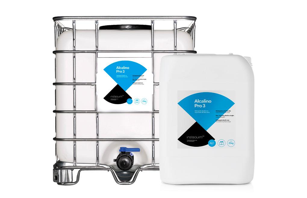 Alcalino Pro 3, Detergente alcalino no espumante de fase única