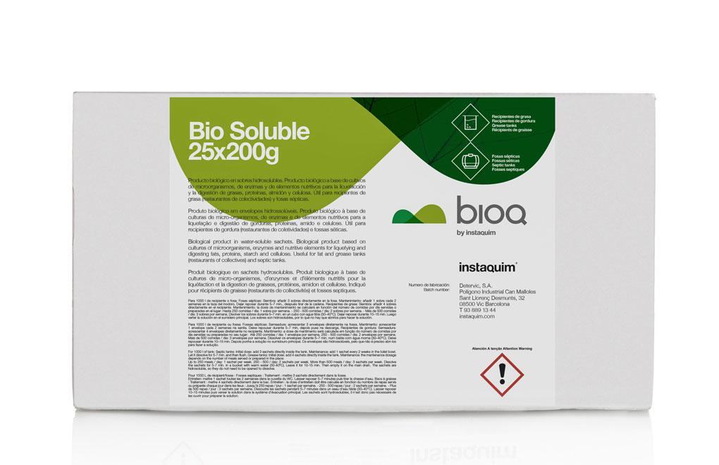 Bio soluble, Producto biológico en sobres hidrosolubles