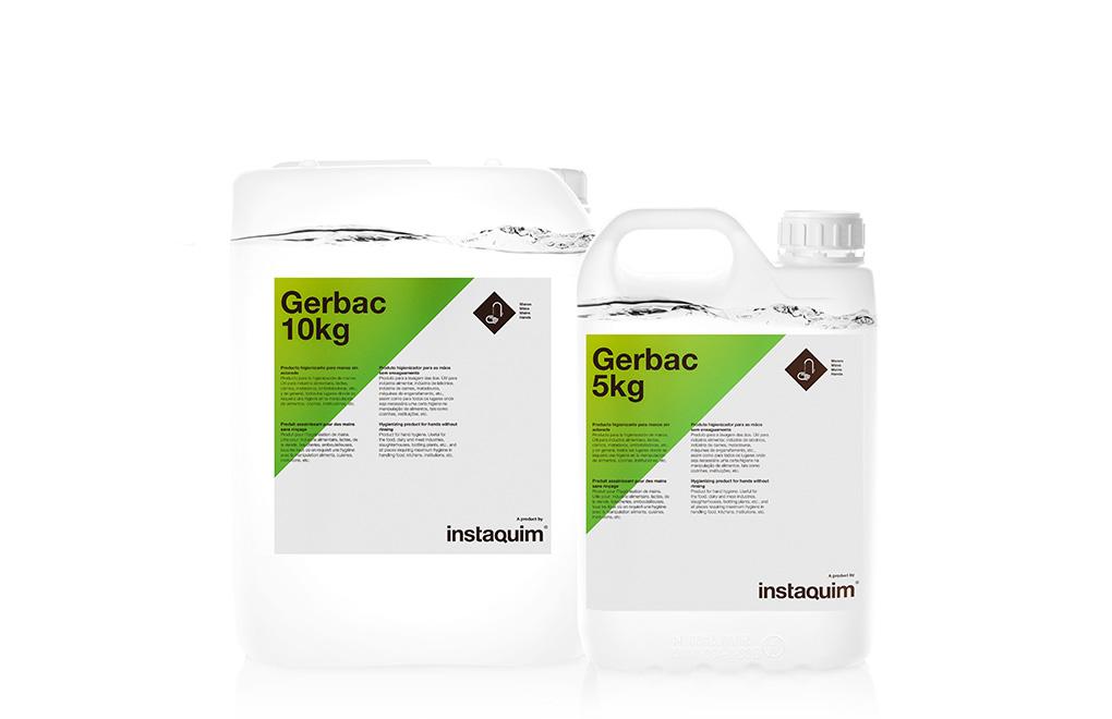 Gerbac, Producto higienizante para manos sin aclarado